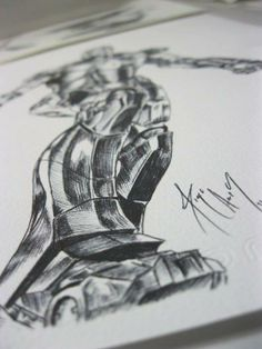 marvel - iron man close look to the iron man ink detail i create.