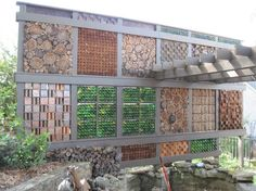 My Privacy Wall, Wine Bottles, Corks, Copper, Walnut And Cedar...say what?!