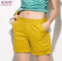 2014 novas mulheres ver?o cal??es cal??es de cintura altas , mais cal?as tamanho XXXXL em Shorts - Feminino de Roupas & acessórios no AliExp...