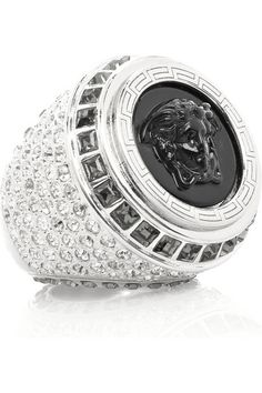 Versace Silver and resin ring
