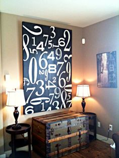 DIY Huge Numbers Canvas