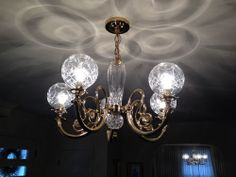A Six Branch Waterford Crystal Neoclassical Style Chandelier With Finely Cut Drip Pans And Hung Multiple Pendants Spears Each Drop Is Etched W