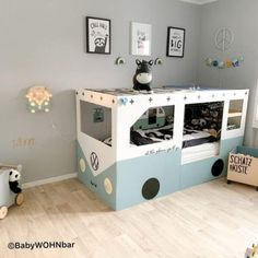 19 Ikea Kura Bed Hacks your Kids will Love - james and catrin Ikea have created a wonderful toddlers bed that is perfect for customising in whatever way you like. You can hack the Ikea KURA bed to . Kura Ikea, Ikea Kura Hack, Ikea Hack Kids, Ikea Hacks, Ikea Kids Bed, Ikea Children, Cool Kids Bedrooms, Cool Kids Beds, Bedding Inspiration