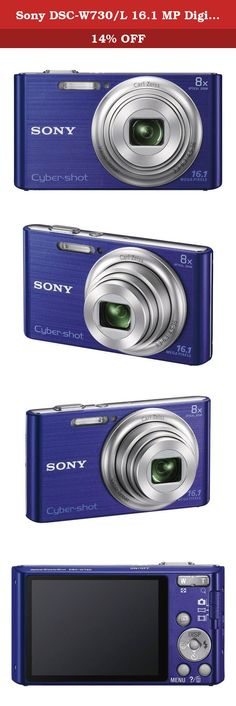 Sony DSC-W730/L 16.1 MP Digital Camera with 2.7-Inch LCD (Blue). It's the amazingly easy-to-use camera that slips right in your pocket-with an 8x optical zoom, 16.1MP photos and beautifully-detailed HD videos. And pics stay clearer, even with shaky hands thanks to Optical SteadyShot image stabilization. You can also enhance your images with built-in effects that adjust skin tone and texture or even whiten teeth.