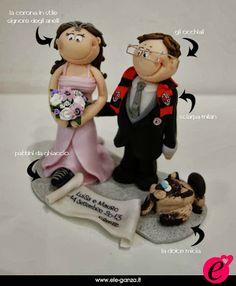 ...ele-ganza...: cake topper #matrimonio personalizzato #customcaketopper #caketopper #toppercake #topcake #weddingidea #weddingcake #wedding #bride #weddingcaketopper #sopratorta #cakedesign #cakeidea #caketop #fimo #clay #clayproject #clayminiature #milan www.ele-ganza.it