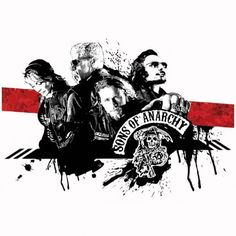Tee shirt Sons Of Anarchy mc family noir/blanc