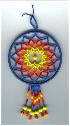 I'm going to try pony beads for this dream catcher. Pony Bead Projects, Pony Bead Crafts, Beading Projects, Beading Tutorials, Pony Bead Patterns, Loom Patterns, Beading Patterns, Bracelet Patterns, Stitch Patterns