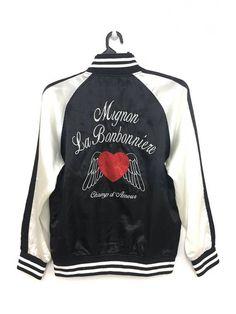 caf48012906 Vintage Vintage SUKAJAN Souvenir Jacket Embroidery Logo Satin Medium Size  Size m - Light Jackets for
