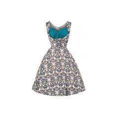 737b75ca8e6 Retro šaty Lindy Bop Ophelia Victorian Floral šaty ve stylu 50. let.  nádherné šaty
