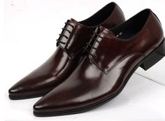 Handmade Men Chocolate Brown Leather Shoes Pointed Toe Derby Formal Dress Shoes sold by Lajuria. Shop more products from Lajuria on Storenvy, the home of independent small businesses all over the world. Lace Up Shoes, Dress Shoes, Men Dress, Formal Shoes, Formal Dress, Men's Wedding Shoes, Suede Leather Shoes, Leather Men, Custom Design Shoes