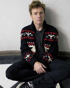 Ewan McGregor can even make an ugly sweater look good :)
