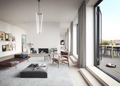 Neutral living room in Stockholm