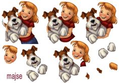 pige med hund