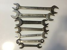 One Lot Of Seven Misc Wrenches Craftsman Plumb Vlchek McKaig Hatch Barcalo