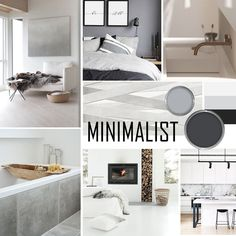 Minimalistic Purity Mood Board Need some inspiration for your minimalistic home? Take a look at our beautiful Minimalistic Purity Mood Board. Interior Design Presentation, Interior Design Themes, Industrial Interior Design, Interior Concept, Contemporary Interior Design, Interior Styling, Moodboard Interior Design, Minimalist Interior, Minimalist Home