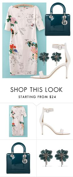 """""""touch of spring"""" by glasspaperscizzors on Polyvore featuring Gianvito Rossi, Christian Dior and Lanvin"""