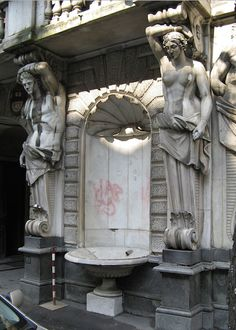 A Caryatid and an Atlantes. Russia.