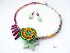 Jumi-juma Beaded Necklace, Crafty, Handmade, Jewelry, Fashion, Beaded Collar, Moda, Hand Made, Jewlery