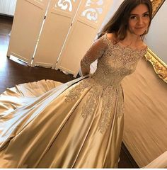This light gold colored wedding gown has pretty embellishments. Custom #weddingdresses like this are affordable with our American based company. We also can make #replicas of couture designer gowns for brides who cant afford the original. Pricing and more details on how it all works can be obtained from emailing us from our official website.
