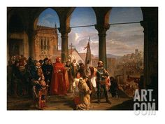 The Dedication of Trieste to Austria Giclee Print by Cesare Felix Dell' Acqua at Art.com