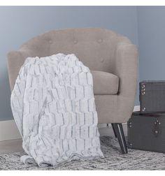 Manta sofá blanco gris