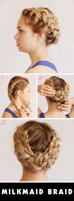 milkmaid braid how to