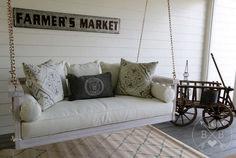 Charming Porch Swing Idea 77