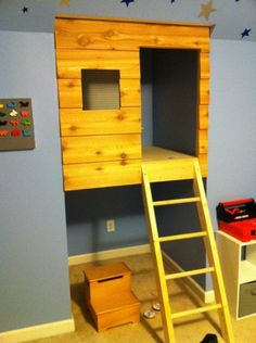 Ding! Awesome. This is not a large space or a complicated project! Any kid (age 2-100) would love this.