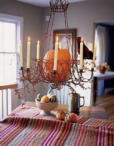 pumpkin chandelier