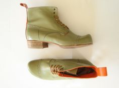 Handmade Custom Leather Boots by zerkahloostrah #Boots #zerkahloostrah