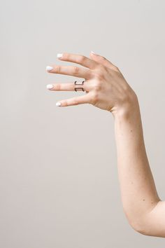 Open Square Profile Ring by knobbly on Etsy $58