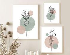 Botanical Wall Art, Botanical Prints, Reproductions Murales, Impressions Botaniques, Bohemian Art, Wall Art Boho, Modern Art Prints, Art Prints For Home, Mid Century Modern Art