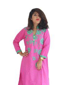 LadyIndia.com # Daily Wear Kurti, Garg Fashion Daily Wear Pink Designer Cotton Stitched Kurti, Stitched Kurti, Kurtas, Daily Wear Kurti, Designer Kurti, https://ladyindia.com/collections/ethnic-wear/products/garg-fashion-daily-wear-pink-designer-cotton-stitched-kurti