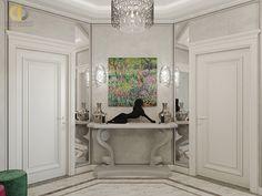 Дизайн интерьера коридора в двухкомнатной квартире 81 кв.м в стиле неоклассика с элементами ар-деко6 Armoire, Oversized Mirror, Projects, Furniture, Home Decor, Clothes Stand, Log Projects, Blue Prints, Decoration Home