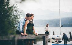 couple photo shoot at the lake Foto-Shooting vor der Hochzeit am Greifensee
