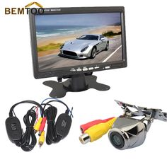 "BEMTOO Wireless Car Rear View Camera HD IR Night Vision Reversing Camera+ 7"" Car Monitor ,free shipping"