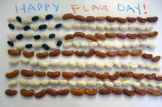 Flag Day - Flag Day Craft: Make an American Flag with dried beans, so easy and fun for kids!    Happy Flag Day! (June 14)