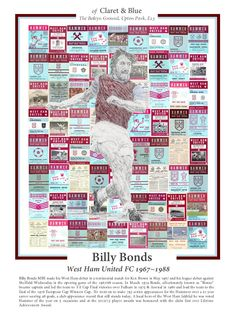 Billy Bonds of Claret & Blue Alan Taylor, Art Sport, Mark Noble, Martin Peters, Joe Cole, West Ham, Arsenal, Chelsea, Baseball Cards