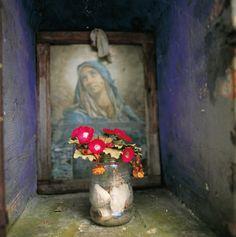 Ein typisches italienisches Marienbild, wie man es zu Tausenden in Italien findet, gesehen von Giusppe Chiucchiù