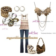 Park Lane Jewelry Golden Butterfly