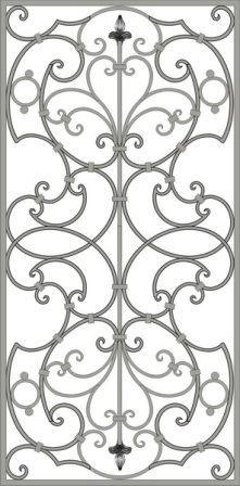Решетки кованые эскизы | Кузнечная мастерская Сталькофф