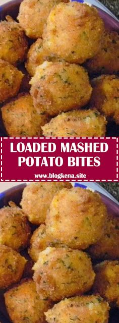 Have left over mashed potatoes? Make these yummy Loaded Mashed Potato Bites. These are everything you love about a loaded baked potato! Crispy Smashed Potatoes, Loaded Mashed Potatoes, Recipes With Mashed Potatoes, Healthy Recipes, Cooking Recipes, Quick Recipes, Popular Recipes, Delicious Recipes, Appetizer Recipes