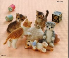 Needle Felt Cute Cats PDF Patterns, Kawaii Ebook, Free Shipping. $3.00, via Etsy.