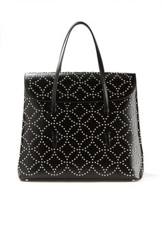 876c454171 Azzedine Alaïa Tote bags    Azzedine Alaïa black studded leather Arabesque  handbag