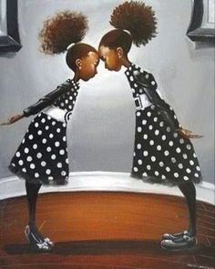 Natural Hair Art, Natural Hair Styles, Black Love, My Black Is Beautiful, African American Artwork, African Artwork, Art Girl, Black Artwork, Art Pieces