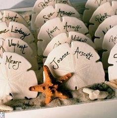 wedding cakes with seashells | 37 Cool Beach Wedding Card Holders | Weddingomania