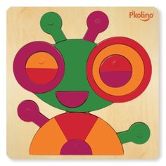 Multi-Solution Shape Puzzle - Bug, 2015 Amazon Top Rated Pegged Puzzles #Toy