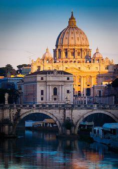 St. Peter's Basilica Dawn, Vatican City, Rome , province of Rome , Lazio Italy