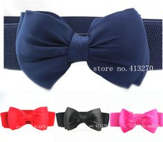 Dress Wide Waist Belts for Women Fashion Belts, New Fashion, Womens Fashion, Waist Belts, Bow Belt, Big Bows, Candy Colors, Belts For Women, Belted Dress