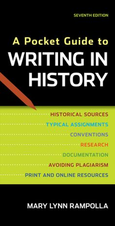 A Pocket Guide to Writing in History by Mary Lynn Rampolla
